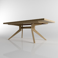 wooden table 3d 3ds