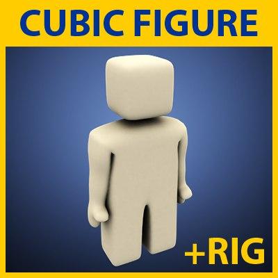 simple cubic figure 3d model