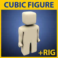 simple cubic figure 3d model
