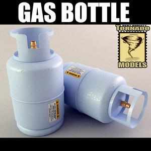 3d model of gas bottle