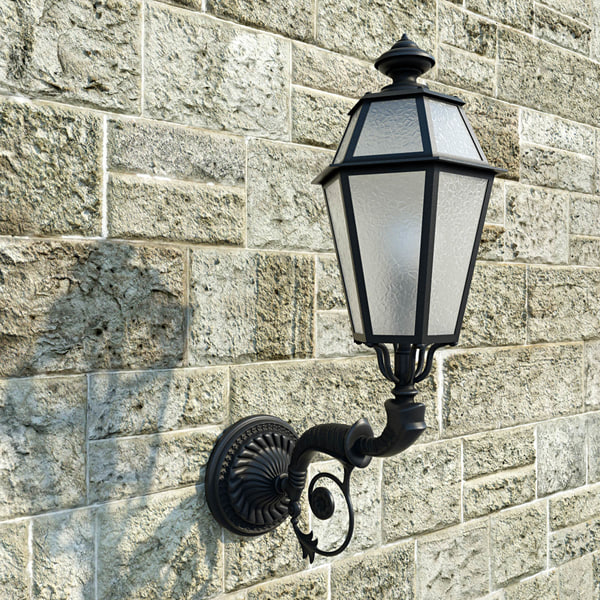 outdoor lantern 3d obj