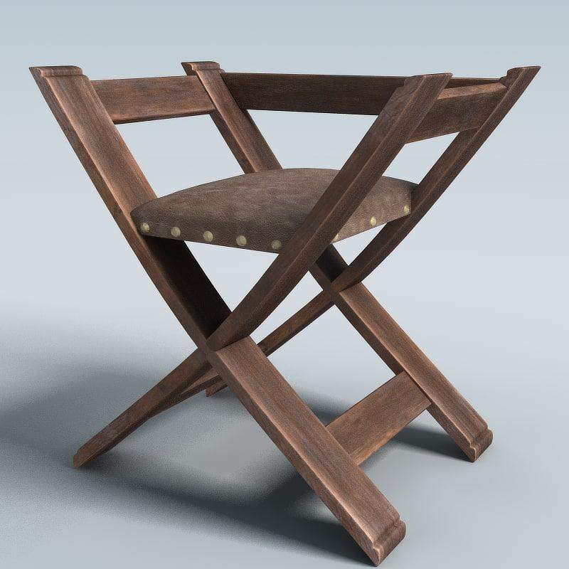 3d medieval chair