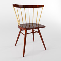 wooden chair nakashima straight 3d 3ds
