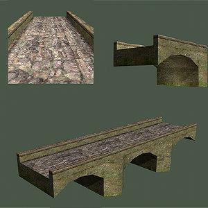 bridge old 3d model