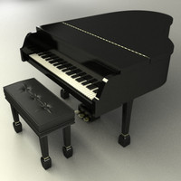 Grand Piano with chair