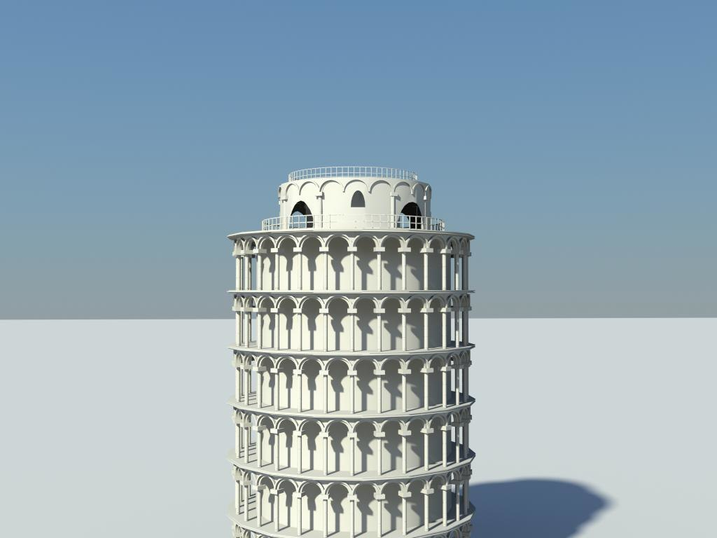 leaning tower pisa 3d model