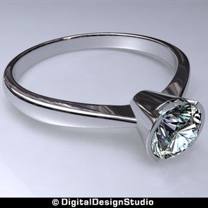 3d model of diamond rings