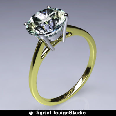 ring diamond 150 3d obj