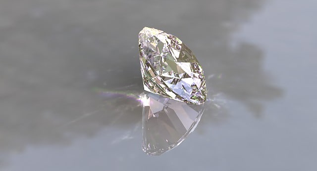 beautiful diamond 3d max