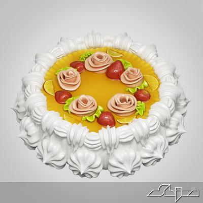cake modelled 3d 3ds