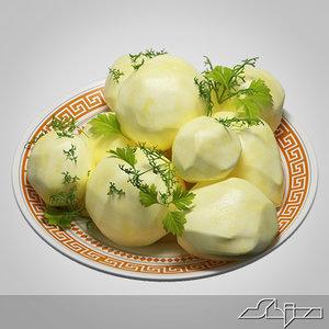 3d garnish boiled potatoes model