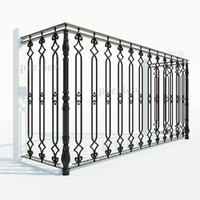 Cast iron fence section_02