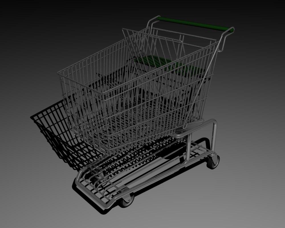 3d model of shopping cart