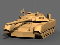 3d model t-80 tank