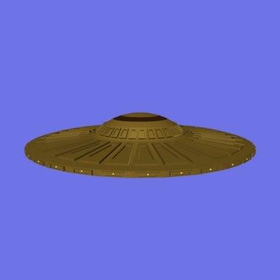 3d bronze ufo model