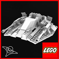 free lego space 3d model