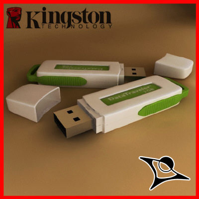 usb kingston 3d model