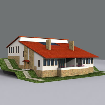 dxf house exterior
