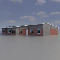 multi purpose building 3d model