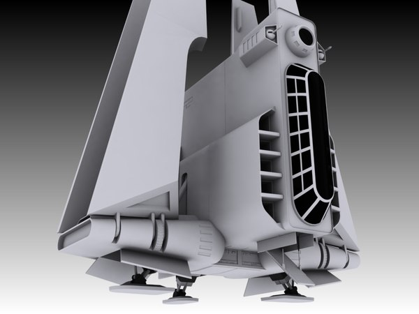 3d model armed attack shuttle