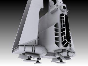 3d model armed attack shuttle
