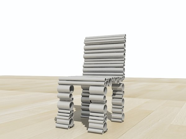 3ds max design modern chair
