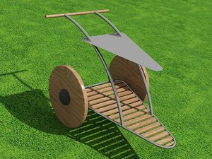 outdoor drinks tray 3d model