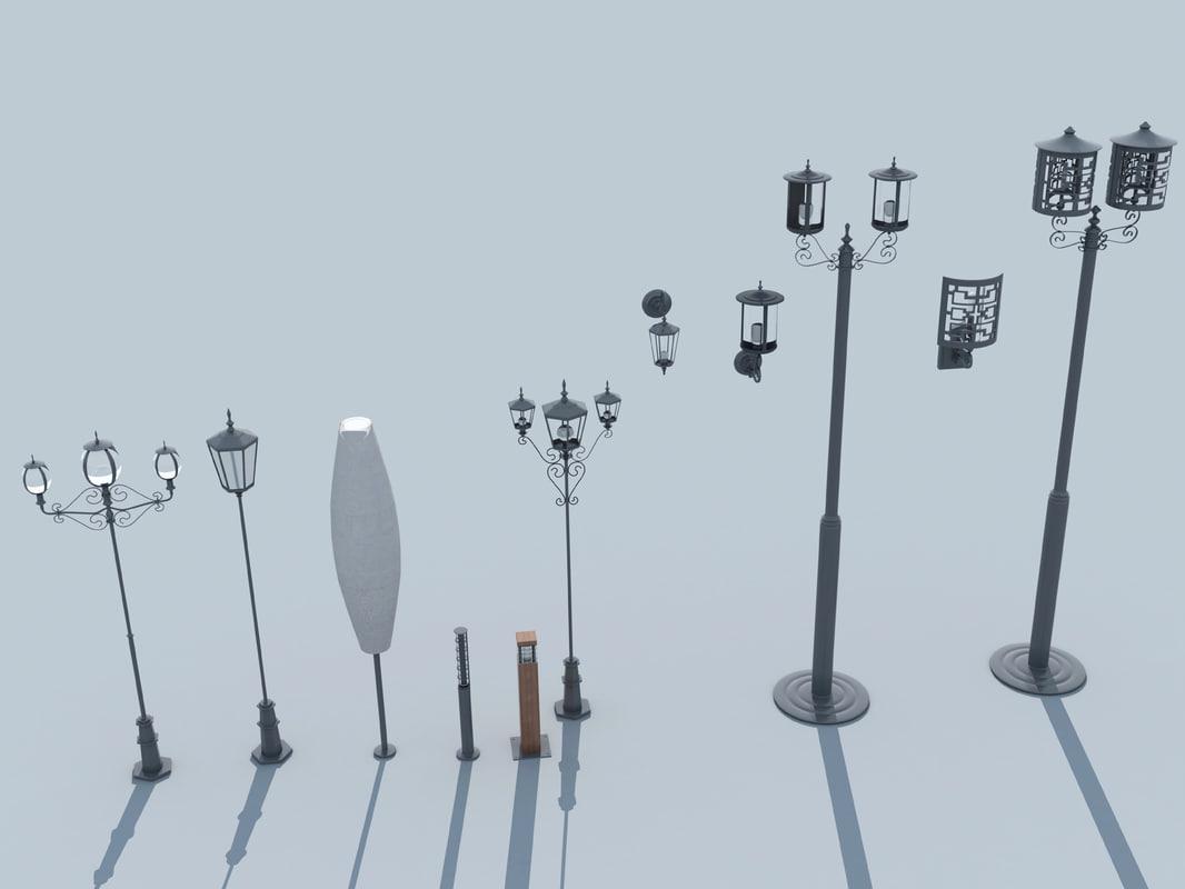 3d 11 garden lighting model