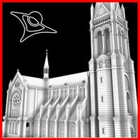 3ds max blumental church bratislava