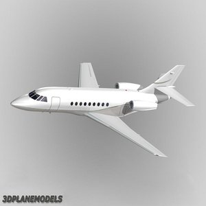 3d model of dassault falcon business jet