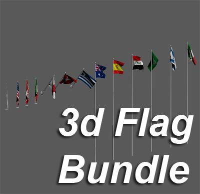 flag 3d 3ds
