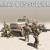 3d army soldier mrap model