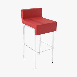modern bar stool 3d 3ds