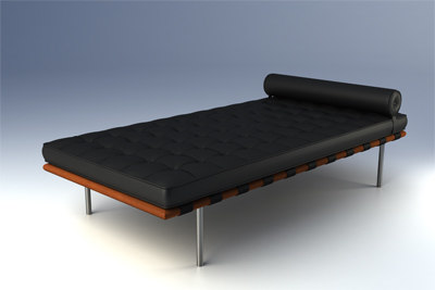 barcelona day bed 3d model