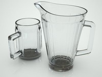 beer pitcher mug 3d model