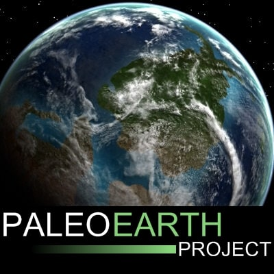 3d model of paleoglobe earth cambrian
