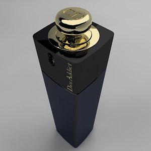 perfume dior addict 3d model