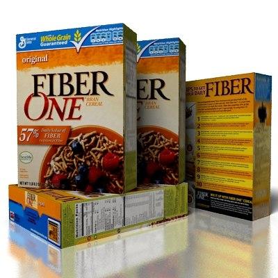 3d cereal fiberone fiber