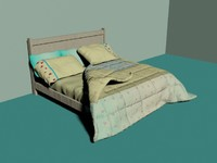 bed king 3d max