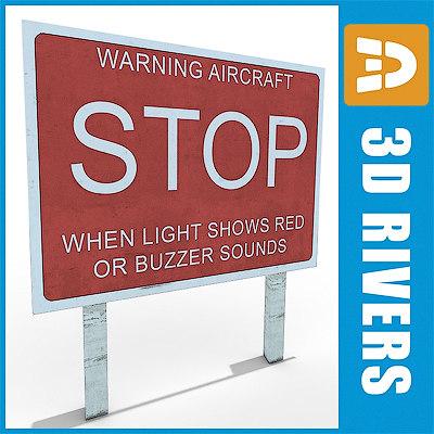 free runway warning 3d model