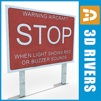 free runway warning 3d model