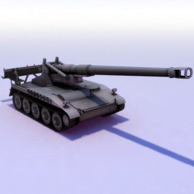 m110a2 203mm 203 m110 3d model