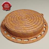 3d manhole modelled
