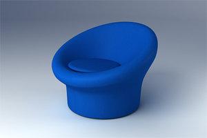 3d mushroom chair