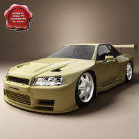 3d realistic nissan skyline model