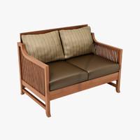3d design oak park chair model