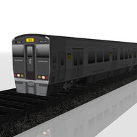 3d commuter train subway model