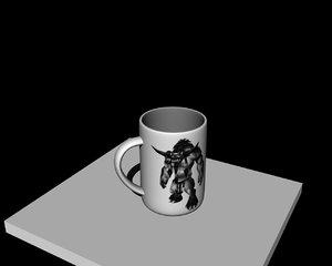 free mug wow 3d model