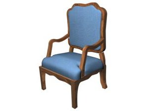 3d model style chair