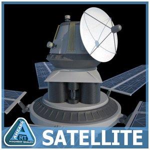 orbiting satellite 3d 3ds